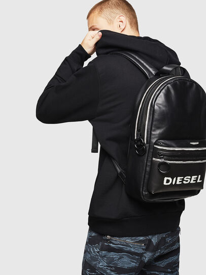 Diesel - ESTE, Black/White - Backpacks - Image 6