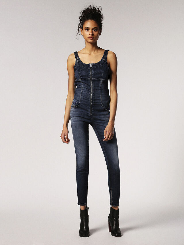Diesel ZEPPEL JOGGJEANS, Blue Jeans - Jumpsuits - Image 1