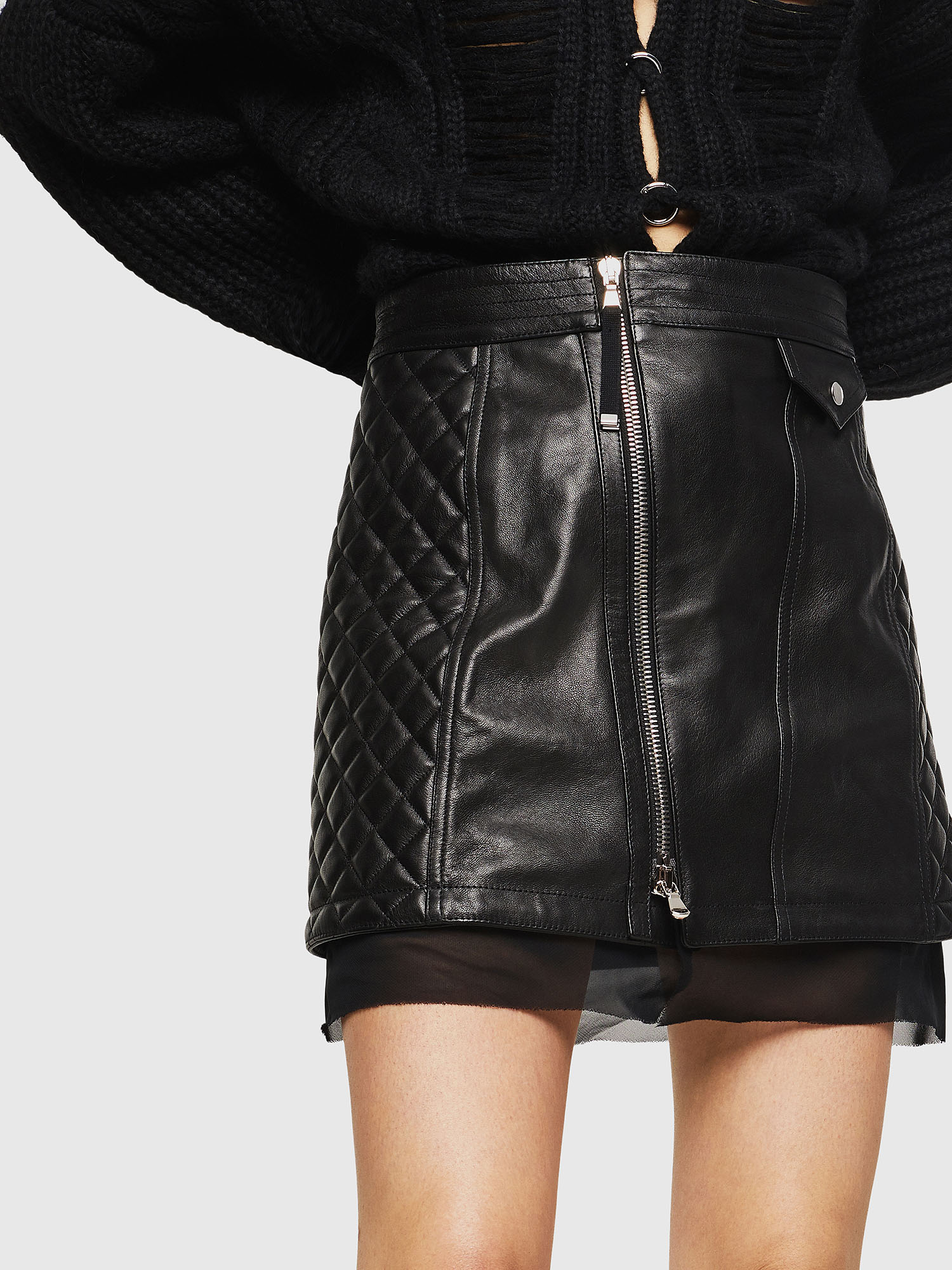 Diesel - OLESIA,  - Leather skirts - Image 3